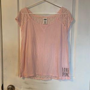 *2 for $22* Victoria's Secret Pink Lace T Shirt